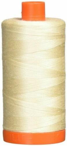 AURIFIL THREAD~ 50wt Cotton Mako-2000 Beige~1422 Yard Spool~