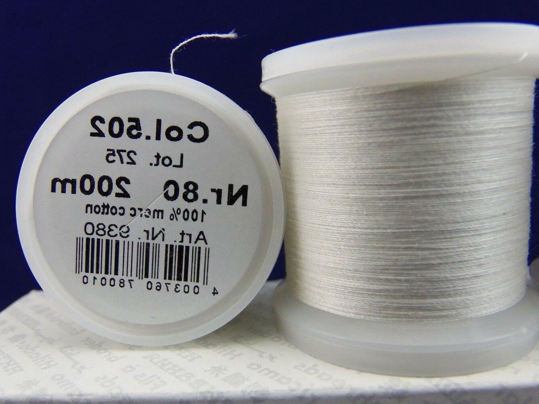 Madeira Thread Size Cotton Thread/200m Natural/NEW