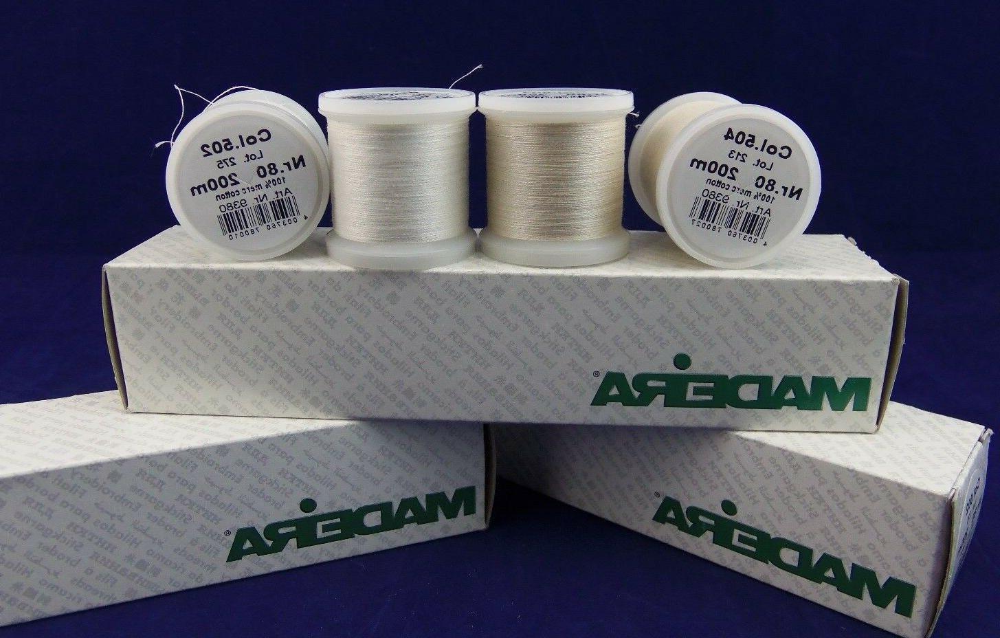 thread size 80 100 percent cotton thread