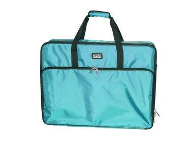 turquoise embroidery project bag