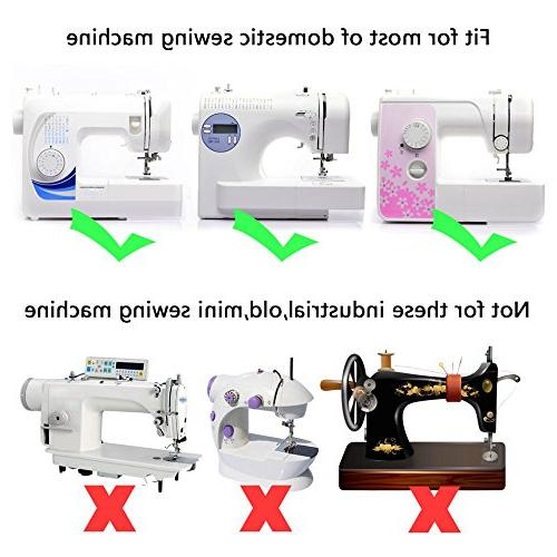 Universal 15 Piece Sewing Machine Presser Walking Kit - for Babylock Janome New Singer Simplicity Necchi