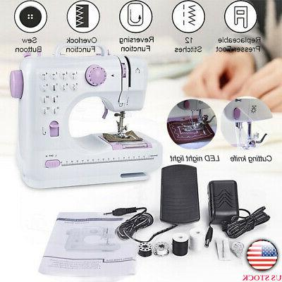 usa portable electric sewing machine double speed