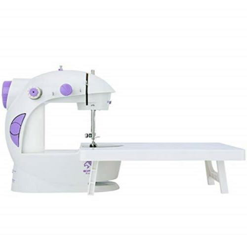 varmax mini sewing machine with extension table
