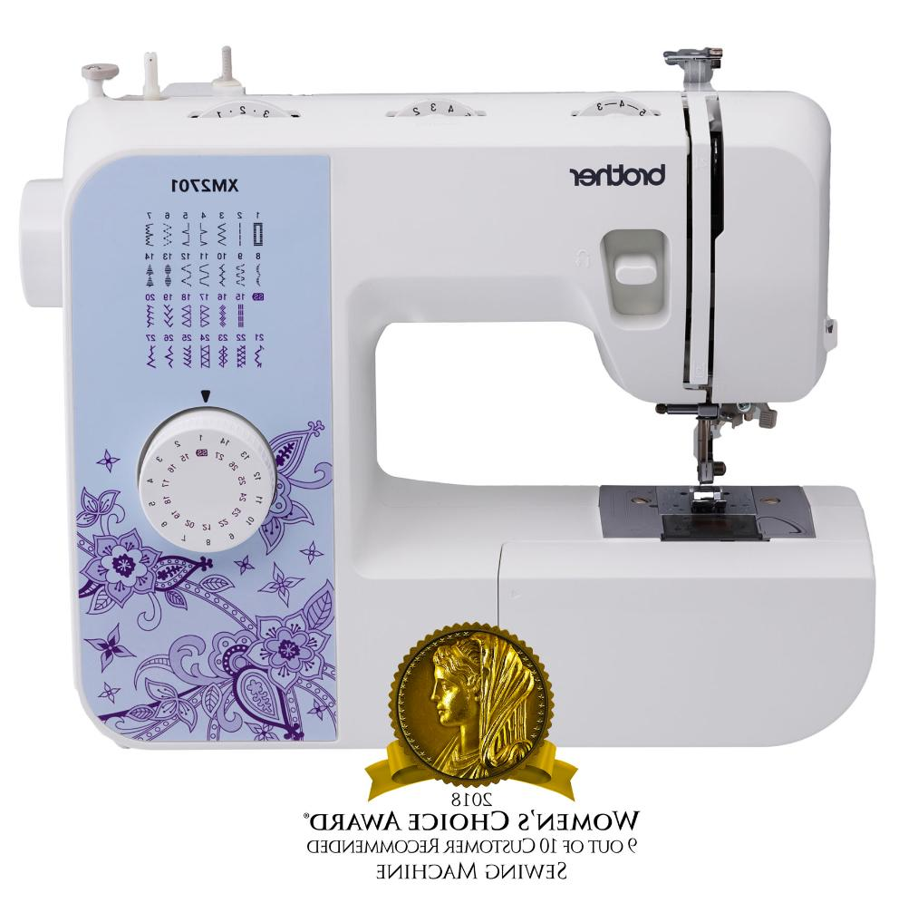 Brother Sewing XM2701, Lightweight Sewing with 27 Auto-Size Buttonholer, Feet, Free DVD