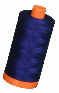 Aurifil Mako Cotton Thread Solid 50wt 1422yds Dark Navy