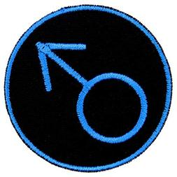 Male Symbol Masculine Identity Patch Iron On Applique - Brig