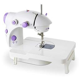 Mini Portable Sewing Machine Double Speed Control Double Thr
