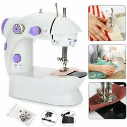 Mini Sewing Machine Sew 2 Speed Portable Desktop Foot Pedal