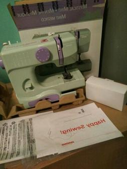 New Janom Mystical Mint Mini Sewing Machine Portable Perfect