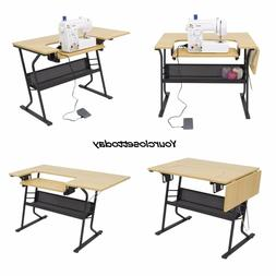 NEW Sewing Machine Craft Table Folding Computer Desk Storage