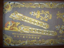 NOS SINGER Sewing Machine Decal Set SPHINX for Model 15 & Fu