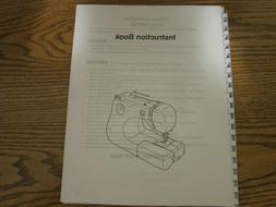 Owners manual instructions for Janome Sewing Machine by mode