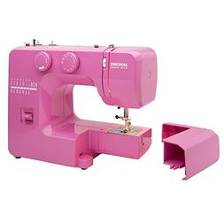 Janome Pink Sorbet Easy-to-Use Sewing Machine with Interior