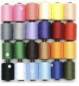KEIMIX Polyester Sewing Threads 24 Colors 1000 Yards Each Sp