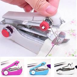 Portable Mini Sewing Machine Handheld Stitch Clothes Home Co