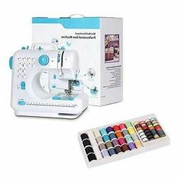 NEX Portable Sewing Machine Blue with Mini Thread Spools and