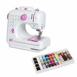 NEX Portable Sewing Machine Pink with Mini Thread Spools and