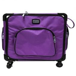 "Tutto 17"" Purple Serger Tote On Wheels"