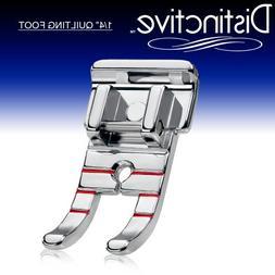 """Distinctive 1-4""""  Quilting Sewing Machine Presser Foot - F"""