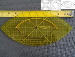 Quilting Template Ruler 5mm Nesting Arcs for Long Arm, High