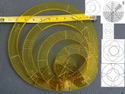 Quilting Template Ruler 5mm Nesting Rings for Long Arm, High