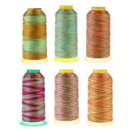 Rainbow Polyester Sewing Thread Cones for Sewing Machine Qui