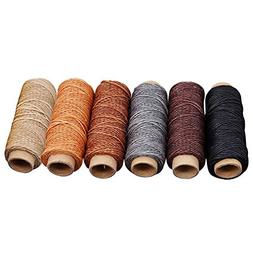 Rainbow Waxed Thread, 6/12 Colors 54 Yards All Purpose Sewin