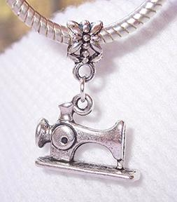 Retro Sewing Machine Sew Seamstress Crafts Dangle Charm for