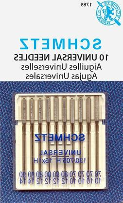 SCHMETZ Universal  Household Sewing Machine Needles, 2 pkgs,