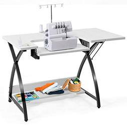 Costway Sewing Craft Table Computer Desk Home Furniture with