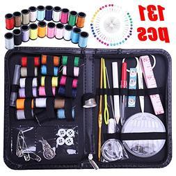 Wei&KYNM Sewing Kit - 134Pcs DIY Premium Sewing Supplies, Zi