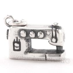 SEWING MACHINE Arts Crafts 925 Charm Pendant .925 Sterling S