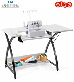 Sewing Machine Desk Table Folding Portable Adjustable Cabine