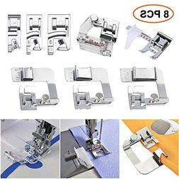 Sewing Machine Feet,3Pcs Rolled Hem Pressure Foot Set ,With