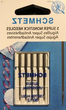 SCHMETZ Sewing Machine Needles, Super Nonstick, Universal, 9