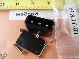 Sewing Machine Power Cord Plug 3 Pin Male Socket Terminal Bo