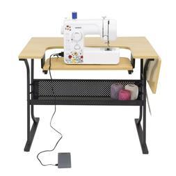 Sewing Machine Table Cabinet Craft Folding Adjustable Platfo
