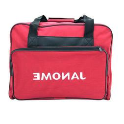 Janome Sewing Machine Tote Bag in Red with Janome Logo