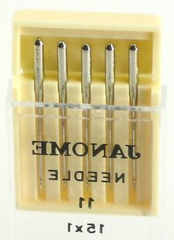 Janome Sewing Machine Universal Needle Size 11 in 5 needles