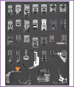 CleverDelights - 32 Piece Sewing Presser Feet Collection - F