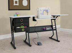 Sewing Table Machine Storage Craft Cabinet Desk Shelves Bins