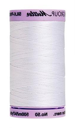 Silk Finish Cotton Thread 50Wt 547Yd-White