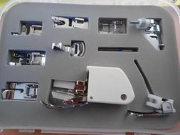 SINGER Accessory Kit 9 Presser Feet, Twin Needle, Case Walki