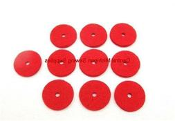 SINGER SEWING MACHINE 10 NEW RED SPOOL PIN FELT PADS CRAFTS