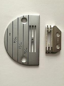 single needle sewing machine plate and feed