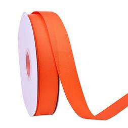 Ribest 1 inch 50 Yards Solid Grosgrain Ribbon Per Roll for D