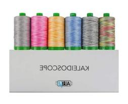 Aurifil Thread Set ''Kaleidoscope'' Collection - 6 Large  40