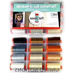 Aurifil Thread Set THE PERFECT BOX OF NEUTRALS By Pat Sloan