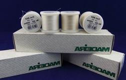 Madeira Thread Size 80/100% Cotton Thread/200m Spool/White,