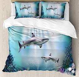 underwater bedding duvet cover sets